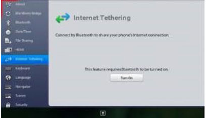 How to setup Bluetooth Internet Tethering on the BlackBerry PlayBook