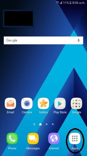 main-android-screen